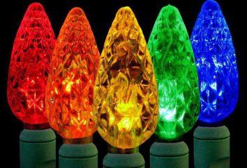 guirlanda Outdoor LED em uma árvore: descrição da espécie, os fabricantes