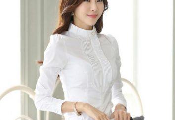 Chemisier à col stand-up. blouse de femmes à la mode