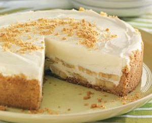 pastel de queso de plátano. Receta para un delicioso postre