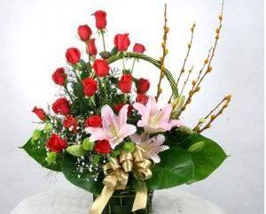 Arte de hacer, ramos de flores