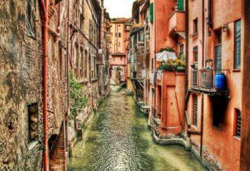 Wspaniałe miasto z Bolonii. Włochy