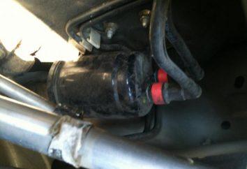 """Onde está o filtro de combustível? Localização do filtro de combustível em veículos, """"Nissan"""", """"Toyota"""", """"Kalina"""", """"Priora"""" e outras marcas"""