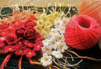 Flores do fio com as mãos: instruções passo a passo, idéias interessantes e feedback