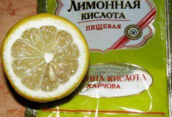 È possibile sostituire il succo di limone con acido citrico? Come diluire correttamente l'acido citrico