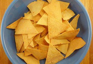 Salsa per nachos: formaggio, salsa e fagioli