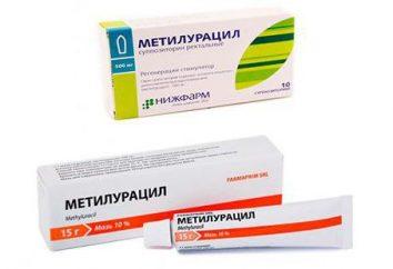 Methyluracyl świece w ginekologii: przeczytaj Application