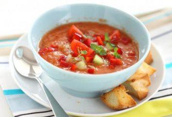 Gorące i zimne gazpacho zupa z pomidorów: przepis
