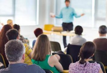 Structure de la formation: le sujet, dans le but, les méthodes et les objectifs. Formation commerciale