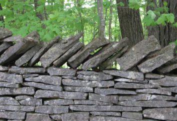 Ogrodzenia z kamienia z ich rąk. Kamienia Ogrodzenie: cena