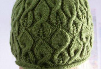 cappelli schema di lavoro a maglia con trecce descrizione raggi. Modelli per maglieria cappelli razze: schema Spit