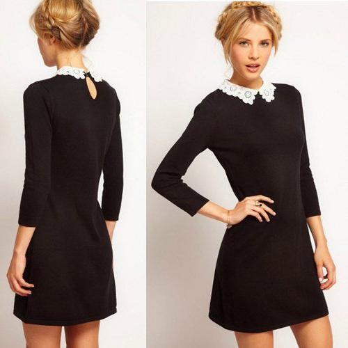 online store 69de0 6fd82 abito nero con colletto bianco e gli accessori ad esso