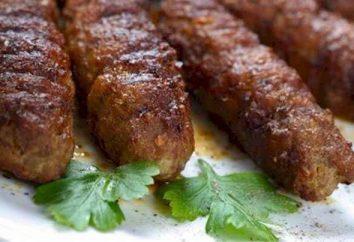 kebab oriental célèbre sur le gril