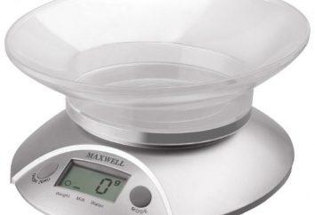 Balança de cozinha Maxwell MW-1451: descrição, comentários