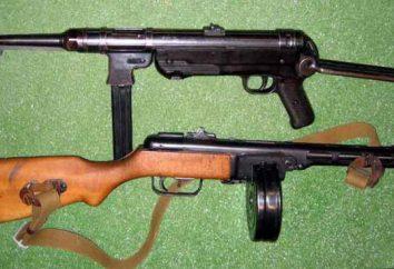 MP-40 fucile mitragliatore: Specifiche