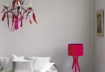 Lámpara en el dormitorio. Selección de las funciones