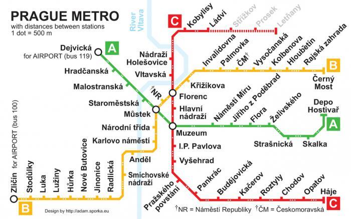 Metro Prag Karte.Prager U Bahn Die Regelung Prag U Bahn Station Metro Karte Von