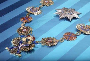 Bestellen Andreya Pervozvannogo: Geschichte, Beschreibung, Ritter