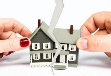 appartamento Sezione nel mutuo in un divorzio i coniugi