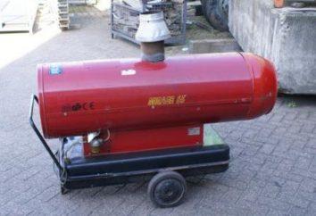 Calor arma diesel: o princípio de funcionamento, reveja os melhores modelos e comentários
