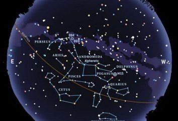 Les constellations du ciel d'automne et « attractions »
