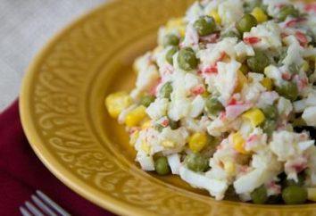 Salade classique de crabe: une recette pour un plat délicieux pour la vie quotidienne et les vacances