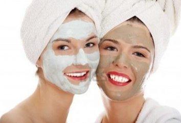 higieny osobistej: maski z twarzy białej gliny