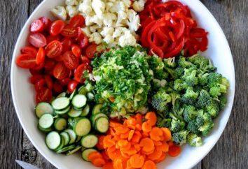 délicieuse salade de légumes crus. recettes de cuisine