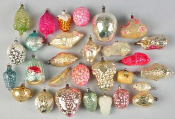 décorations de Noël en verre: fabrication Russie