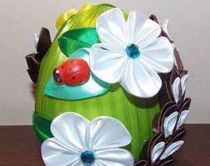 Como fazer ovos de Páscoa a partir de fita?