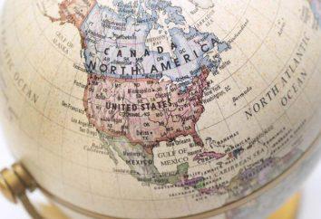 De secours et de minéraux en Amérique du Nord