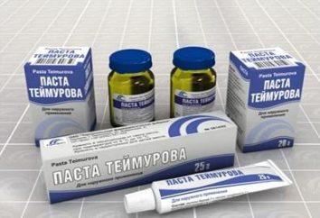 """El medicamento """"Pasta Teymurova"""". Opiniones. instrucción"""
