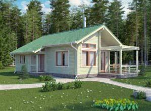 Projekt domu z barem 6×6: godność, zwłaszcza