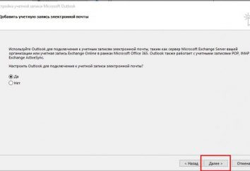Los servicios postales Mail.ru e instrucciones de configuración paso de Outlook –