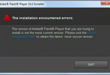 Adobe Flash Player: Installationsfehler. Was ist die Ursache und wie die Panne zu beheben?