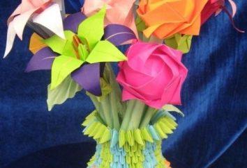 Flores do guardanapos e papel