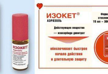 """Pulvérisation """"Izoket"""": mode d'emploi, avis, les descriptions, les analogues, le prix"""