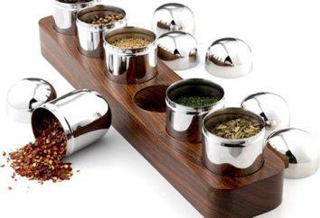 Set pour les épices – un attribut important de toute cuisine
