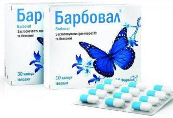 """""""Barboval"""": instrukcje użytkowania (w kropli). Analogi """"Barboval"""""""