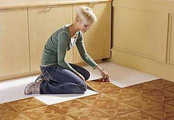 carreaux de sol en PVC: avis. Les tuiles en PVC modulaires, auto-adhésives: prix