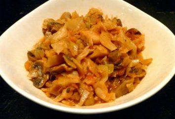 Tushena col con setas – sencilla y deliciosa