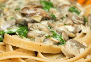 Massa com cogumelos – um tradicional prato italiano