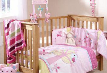 Rim na łóżeczku niemowlęcym: rodzaje, producentów i sprzężenia zwrotnego. Dzieci sofa z desek