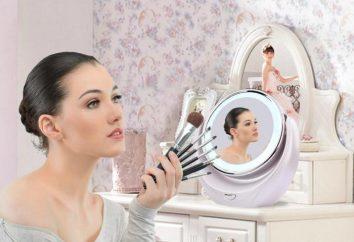Marność lustro z powiększeniem i oświetlenia: recenzje. Kosmetyki stół lustro i ściany
