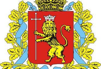 regione di Vladimir. Emblema, e la bandiera simboli di singole città