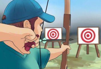 Cómo disparar un arco? tiro a la diana. equipos contra incendios