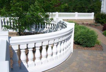 Moderna y elegante balaustrada – una combinación de practicidad y la belleza