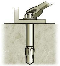 Zakotwiczyć na betonie. rodzaje kotew