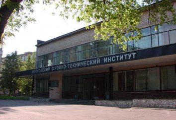 MiPT: departamentos, especialidades e pontuação passando