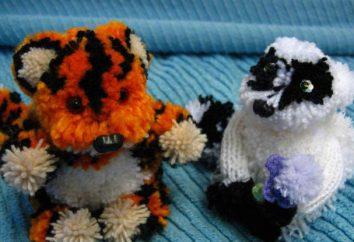 Brinquedos de pompoms com as próprias mãos. Como fazer brinquedos de pompoms