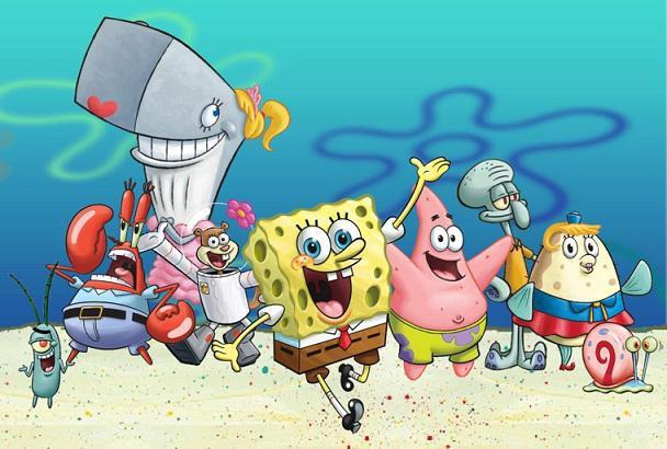 Spongebob personaggi dei cartoni animati